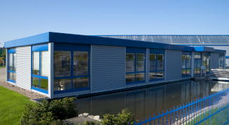 Bürogebäude in Modulbauweise erstellt